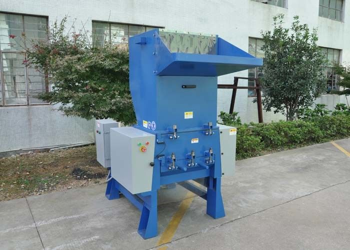 Power 45kw Film Small Plastic Crusher , Automatic Baiting Crusher Plastic Machine