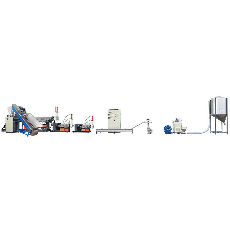 75KW Plastic Bag Recycling Machine / Plastic Recycling Granulator Machine