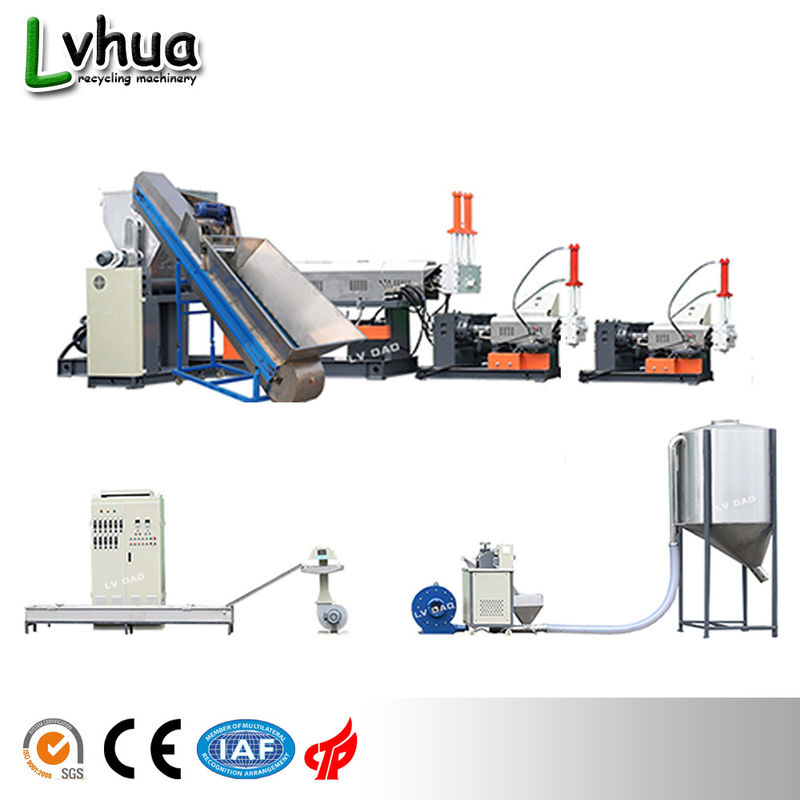 Single Stage PP Plastic Recycling Machine / Plastic Recycling Extruder Machine